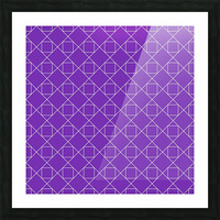Purple Squares And Diamonds Pattern Picture Frame print