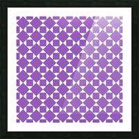 Purple Geometric Pattern Picture Frame print