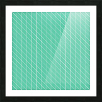 Aquamarine Checkers Pattern Picture Frame print