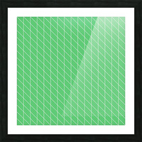 Green Color Checkers Pattern Picture Frame print