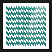 Dark Green Checkers Pattern Picture Frame print