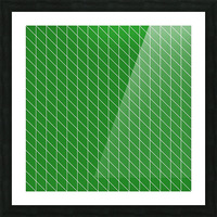 Green Checkers Pattern Picture Frame print