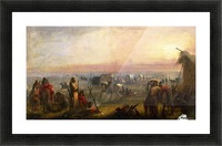 Departure of the Caravan at Sunrise Picture Frame print