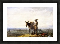 Old Bill Burrows a Free Trapper Picture Frame print
