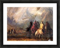 Caravan Passing a Mountain Gorge in a Storm Picture Frame print