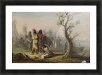 An Indian Camp Picture Frame print