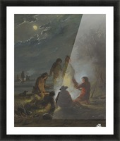 Camp Fire, Preparing the Evening Meal Picture Frame print