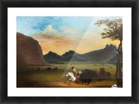 Buffalo Hunt Picture Frame print