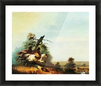 Elk Swimming the Platte Picture Frame print