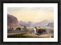 Buffalo Hunting, near Independence Rock Picture Frame print