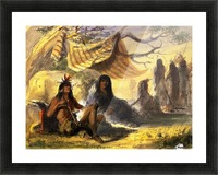 Pawnee Indian Camp Picture Frame print