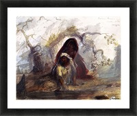 Indian Women Snake Tribe Oregon Picture Frame print