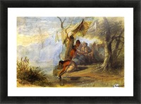 Visit to an Indian Camp on the Border of a Lake Picture Frame print