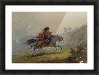 An Indian girl on horseback Picture Frame print