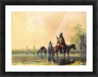 Indian village Picture Frame print