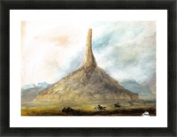 Chimney Rock near Scotts Bluff Picture Frame print