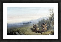 Indian hunters Picture Frame print