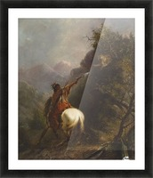 Indian Shooting a Cougar Picture Frame print