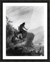 Snake Indians Shooting Elk Picture Frame print