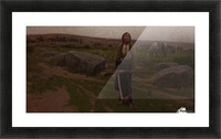 Indian woman at hunt Picture Frame print