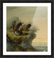 Pawnee Indians watching the Caravan Picture Frame print