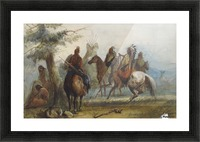 Sioux setting out on an expedition to capture wild horses Picture Frame print