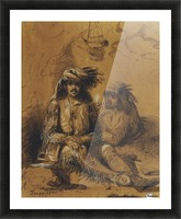 Trappers, Auguste and Louis Picture Frame print