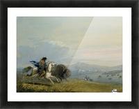 Pawnee Running Buffalo Impression et Cadre photo