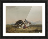 Pierre and the Buffalo Picture Frame print