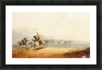 Lassoing Horses Picture Frame print