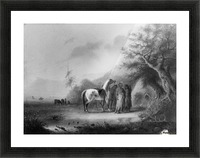Sioux Indians in the mountains Picture Frame print