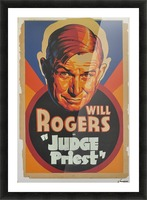 Judge Priest Picture Frame print
