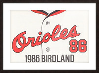1986 Baltimore Orioles Metal Sign Picture Frame print