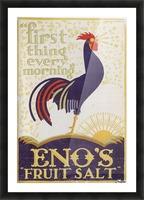 Enos fruit salt Picture Frame print