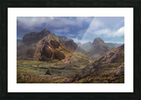 Landscape with giant skull Picture Frame print