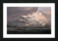 Snowy mountain Picture Frame print