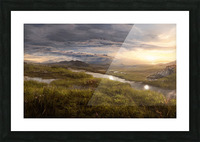 Landscape with river 1 Picture Frame print