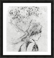 The nurse by Degas Picture Frame print