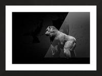 Silverback Gorilla Edit Edit Picture Frame print