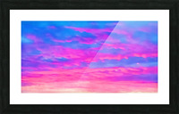 pink waves Picture Frame print