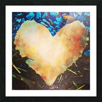 heart leaf Picture Frame print