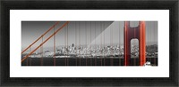 Golden Gate Bridge Panoramic Downtown View Picture Frame print