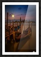 VENICE Gondolas during Blue Hour Picture Frame print