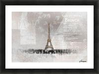 Digital-Art Eiffel Tower II Picture Frame print