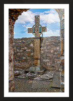Colmcilles Cross Picture Frame print