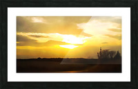 golden evening Picture Frame print