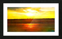 orange yellow Picture Frame print