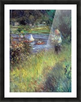 The Seine at Chatou (Detail) by Renoir Picture Frame print