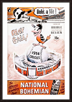 1954 Orioles Score Card Art Picture Frame print
