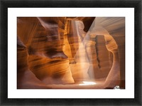ANTELOPE CANYON Gorgeous Light Beam Picture Frame print